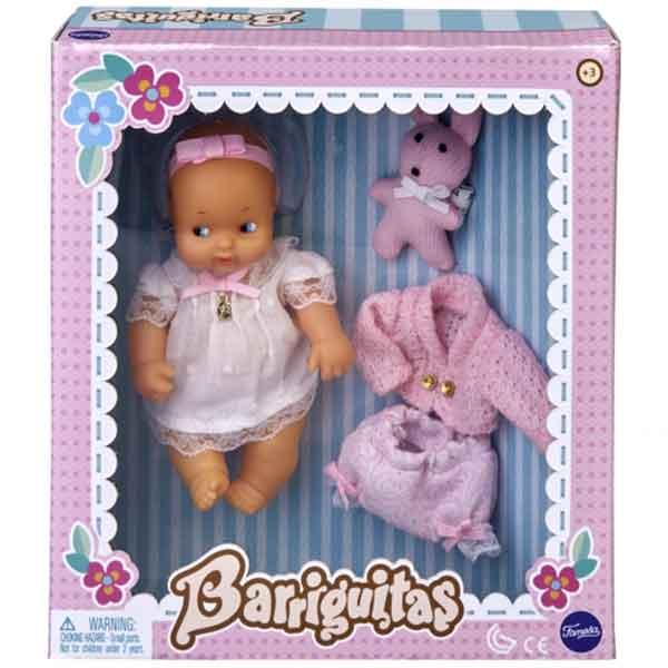 Barriguitas Muñeca Vestido Rosa y Conejito - Imagen 1