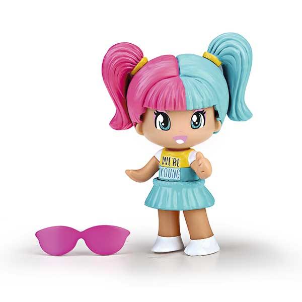 Pinypon Figura Cabello Rosa y Azul New Look