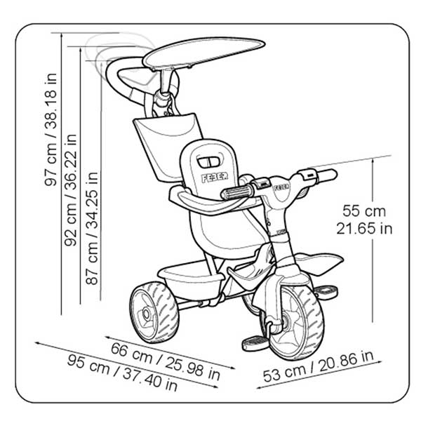 Triciclo Evolutivo Baby Plus Music Azul - Imatge 5