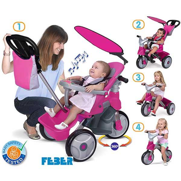 Triciclo Baby Trike Easy Evolution Pink de Feber (800009561) - Imatge 1