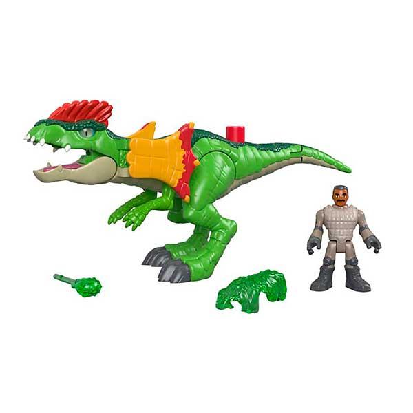 Imaginext Jurassic World Figura Dinosaurio Dilophosaurus - Imagen 1