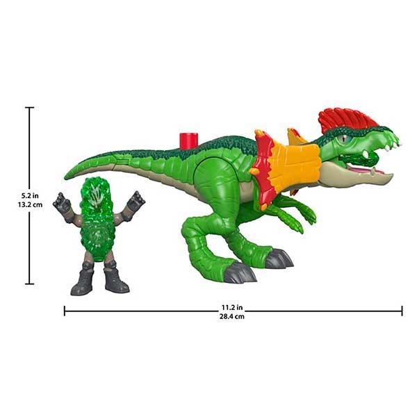 Imaginext Jurassic World Figura Dinosaurio Dilophosaurus - Imagen 2