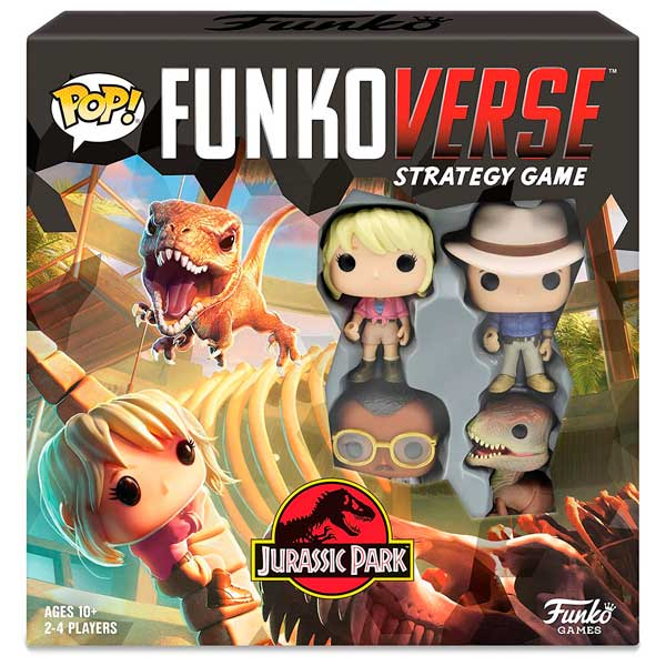 Jurassic Park Funkoverse Pop! Juego de Estrategia 4 Figuras