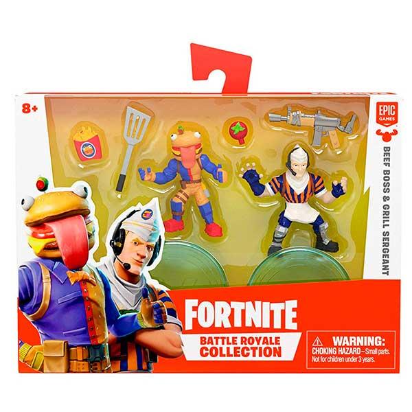 Fortnite Figuras BeefBoss y Grill Sergeant 7cm