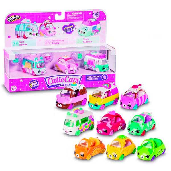 Pack 3 Coches Shopkins Cutie Cars - Imagen 1