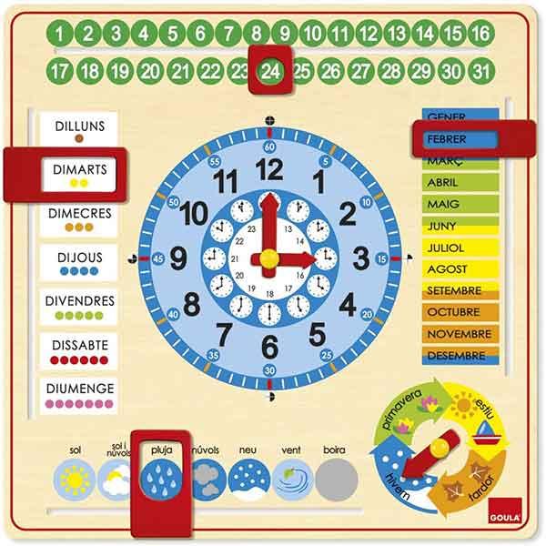 Rellotge i Calendari en Catala - Imatge 1