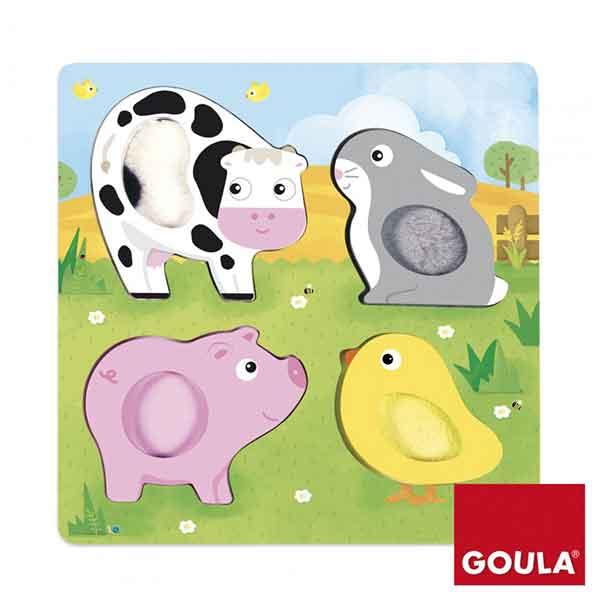 Goula Puzzle Animales Granja Táctil