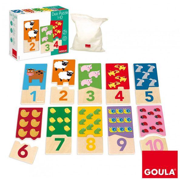 Goula Puzzle Duo Animais 1-10