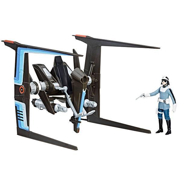 Star Wars Figura y Vehiculo Canto Bit Police 9cm
