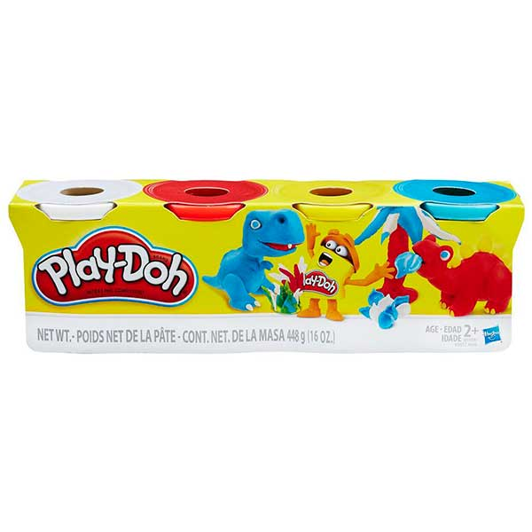 Pack 4 Potes Play-Doh Colores Clasicos - Imagen 1