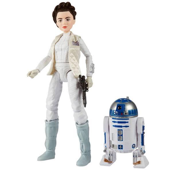 Star Wars Pack 2 Figuras Princesa Leia y R2D2 30cm