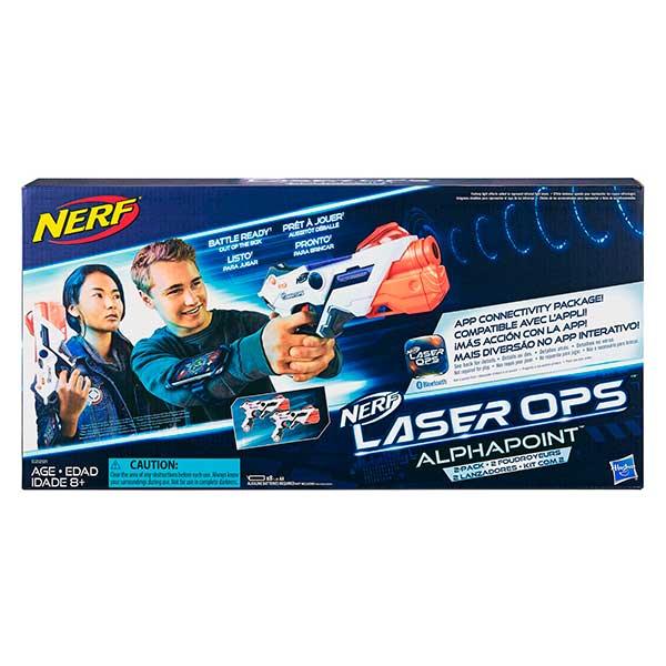 Nerf Laser Ops Alphapoint Pack 2 Lanzador Láser - Imagen 1