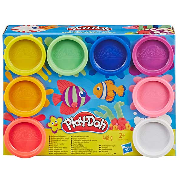 Pack 8 Botes Play-Doh Peces - Imagen 1