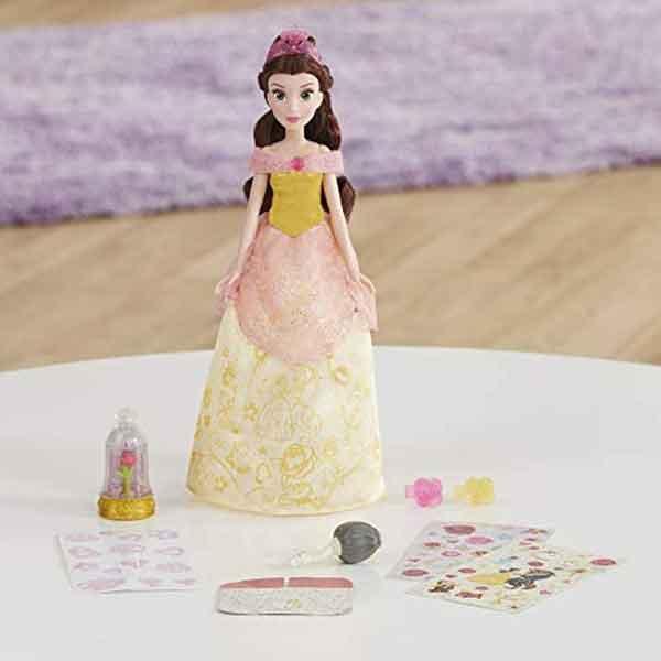 Disney Muñeca Princesa Bella Diseños Glitter - Imagen 3