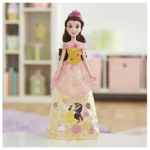 Disney Muñeca Princesa Bella Diseños Glitter - Imagen 5