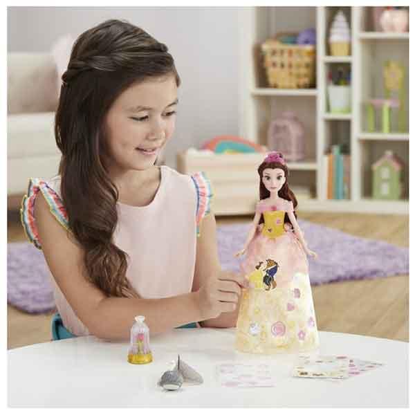 Disney Muñeca Princesa Bella Diseños Glitter - Imagen 6