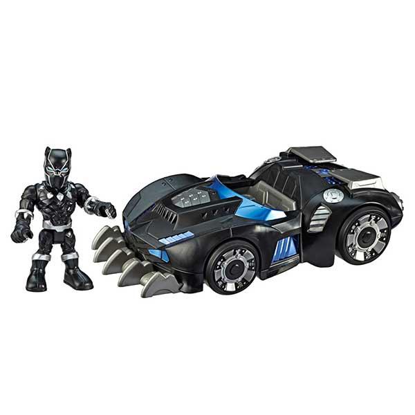 Marvel Figura Black Panther con Coche Playskool - Imagen 1