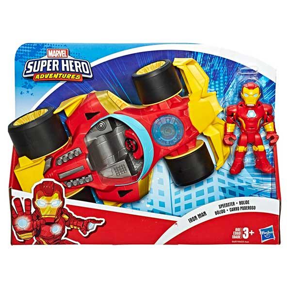 Marvel Figura Iron Man con Coche Playskool - Imagen 1
