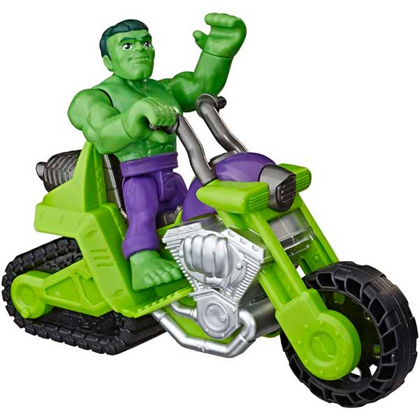 Marvel Figura Hulk con Moto Playskool - Imagen 1