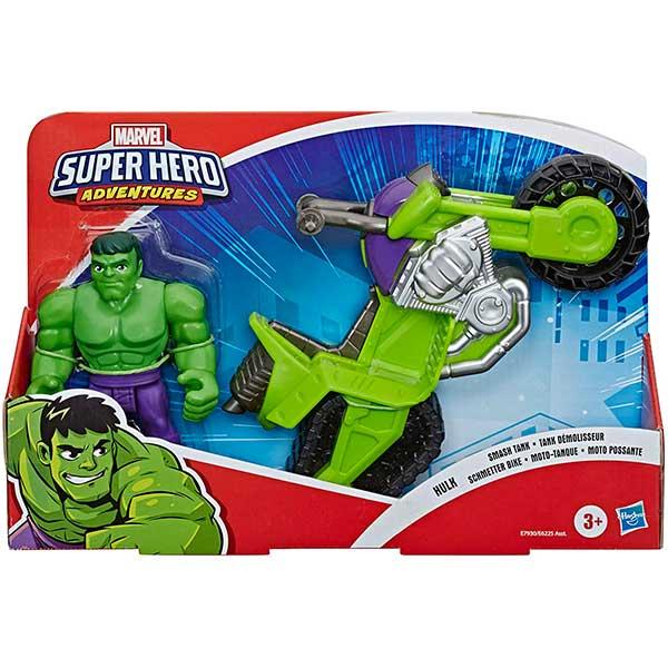 Marvel Figura Hulk con Moto Playskool - Imagen 2