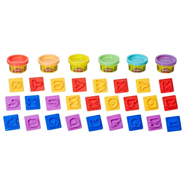 Play-Doh Pack 6 Botes Plastilina y Moldes Letras - Imagen 1