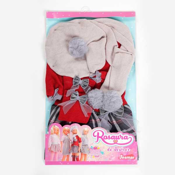 Rosaura Conjunto Falda y Jersey Rojo - Imagen 1