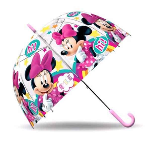 Paraguas Minnie Transparente Campana
