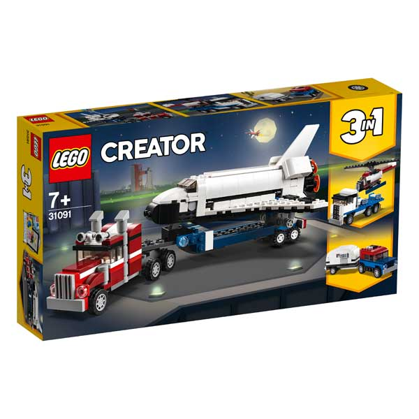 Lego Creator 31091 Transporte de la Lanzadera 3en1