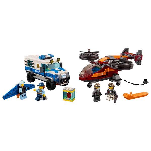 Lego City 60209 Policía Aérea: Robo del Diamante - Imatge 1