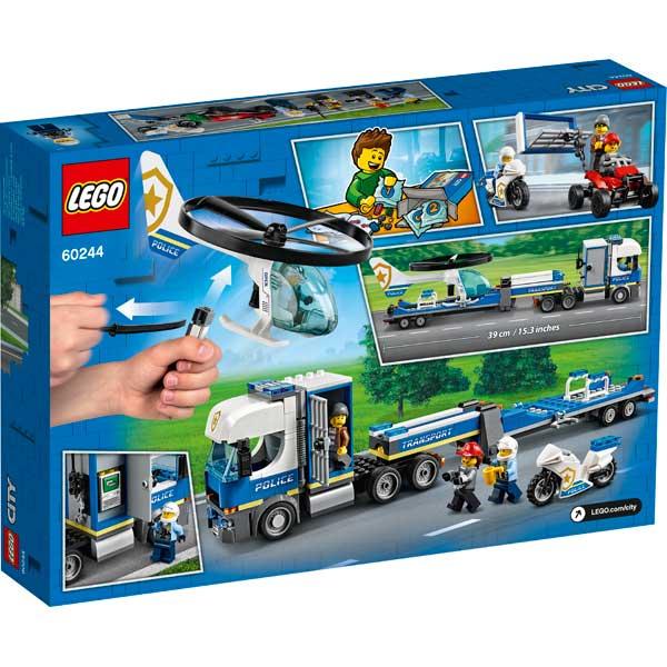 Lego City 60244 Policía: Camión Transporte Helicóptero - Imagen 1