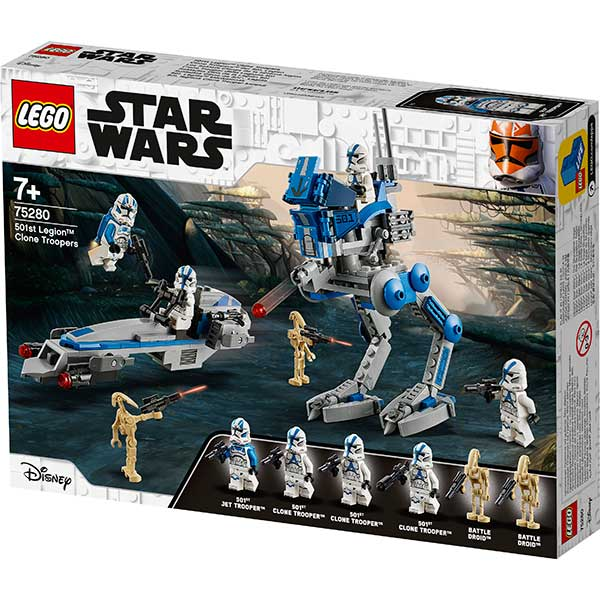 Lego Star Wars 75280 Soldados Clon de la Legión 501 - Imagen 1