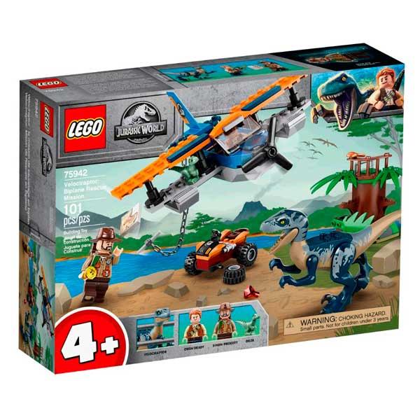 Lego Jurassic World 75942 Velociraptor: Misión de Rescate en Biplano