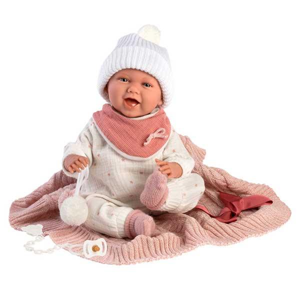 Muñeca Mimi Bebé con Manta y Sonidos 42cm - Imagen 1