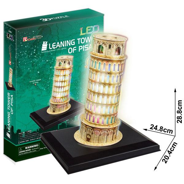 Puzzle 3D Led Torre de Pisa Cubic Fun