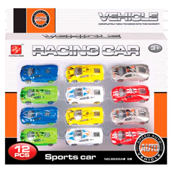 Pack 12 Cotxes Racing Sports Cars - Imatge 1