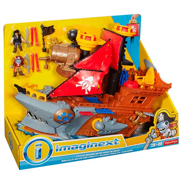 Imaginext Barco Ataque de Tiburón - Imagen 1