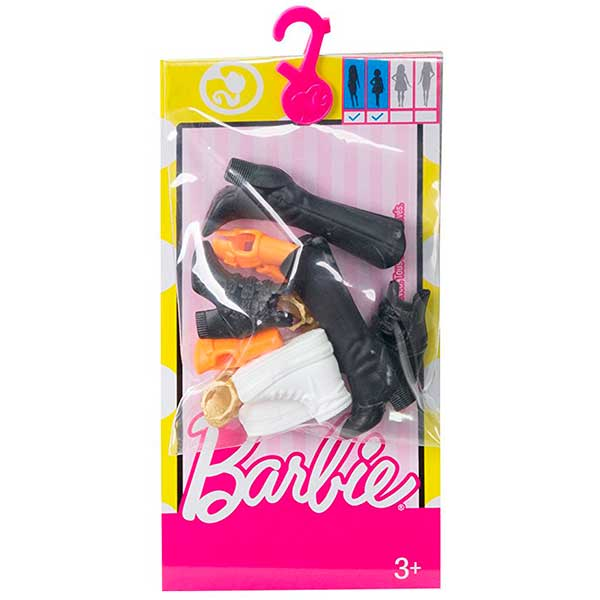 Barbie Vestidos Pack 5 Zapatos #2