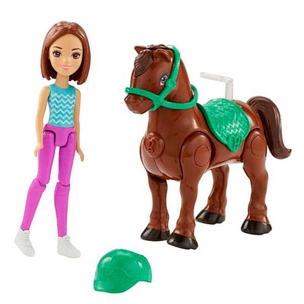 Barbie Mini Muñeca con Pony Turquesa - Imagen 1