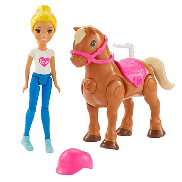 Barbie Mini Muñeca con Pony Rosa - Imagen 1
