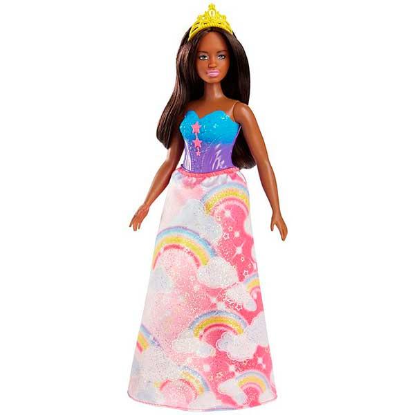 Muñeca Barbie Princesa Corpiño Azul - Imagen 1
