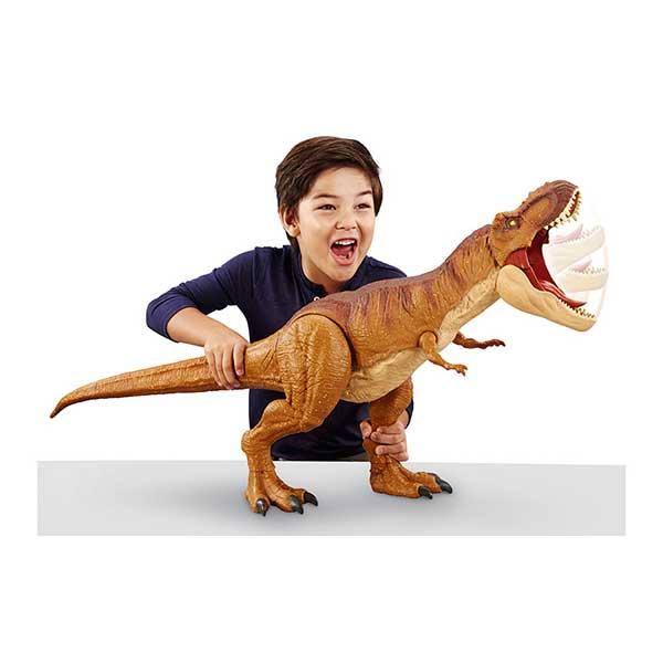 Jurassic World Figura Dinosaurio Tyrannosaurus Rex Colosal 90cm - Imagen 1