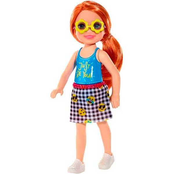 Barbie Muñeca Chelsea Niña Peliroja Gafas - Imagen 1