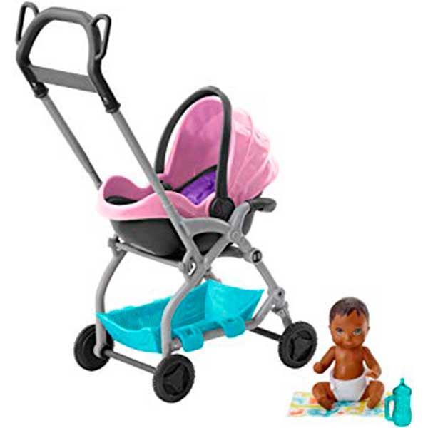 Barbie Bebé con Cochecito Rosa - Imagen 1