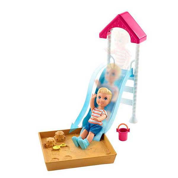 Barbie Muñeco Bebé con Tobogan - Imagen 1