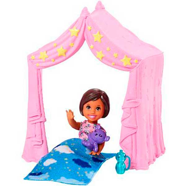Boneca Barbie Menina Skipper Tienda de Noche