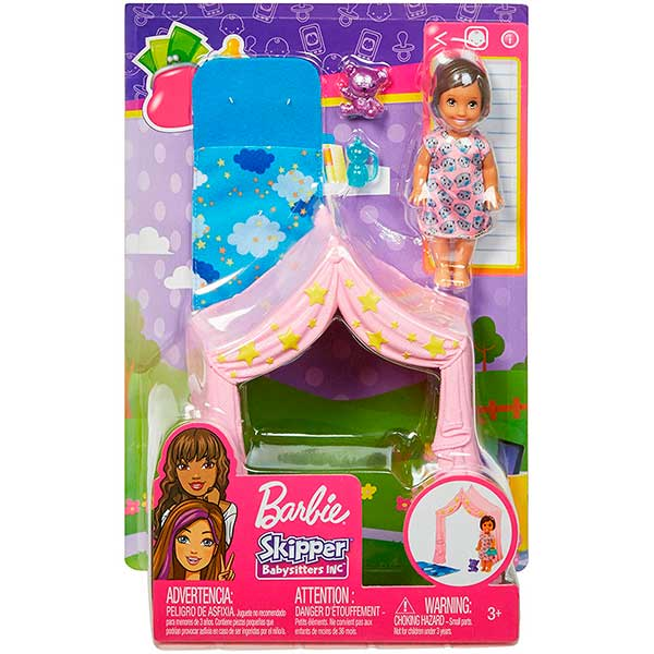 Muñeca Barbie Niña Skipper Tienda de Noche - Imagen 2