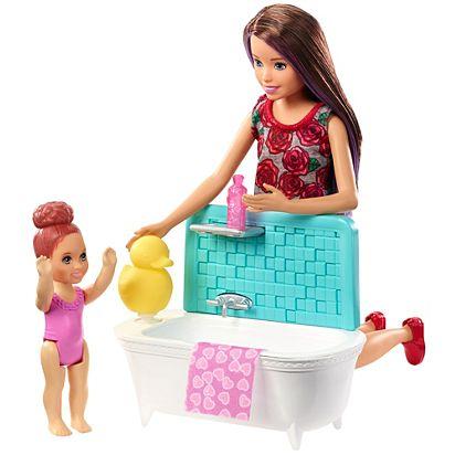 Muñeca Barbie Canguro con Bañera