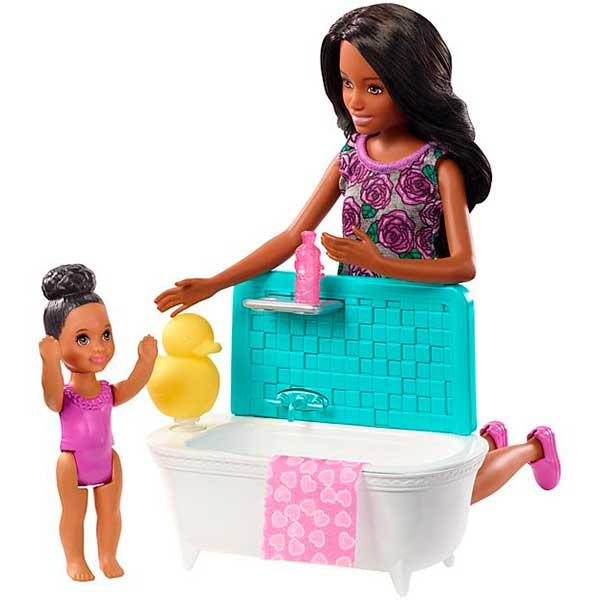 Muñeca Barbie Canguro Negrita con Bañera