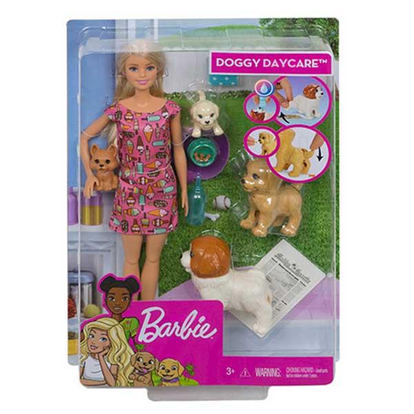 Muñeca Barbie y Guardería de Perritos - Imagen 1