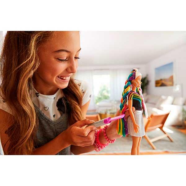 Muñeca Barbie Mechas Arco Iris - Imagen 2